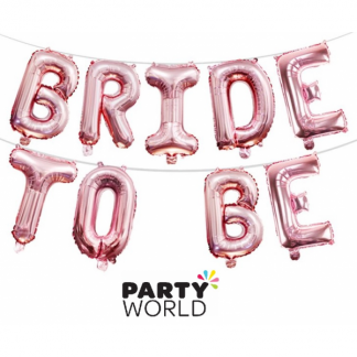 Bride To Be Rose Gold Foil Balloon Banner (air fill only)