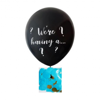 Gender Reveal Confetti Giant Latex Balloon (boy)