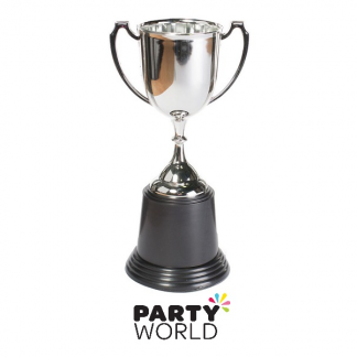 Trophy Cups - Silver with Black Base (2)