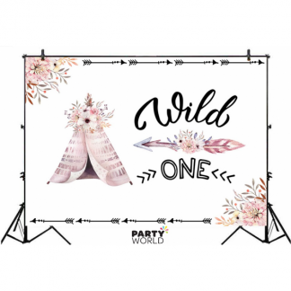 Wild One Party Backdrop