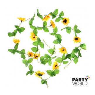 Artificial Sunflowers Garland (2.4m)