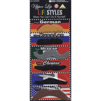 Moustaches - Assorted Countries - 6pcs
