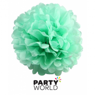 Teal Paper 25cm Fluffy Decoration