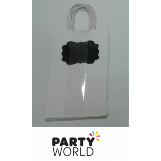 White Kraft Paper Gift Bag with Handle (5)