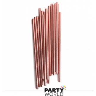 Rose Gold Foil Paper Straws (10)
