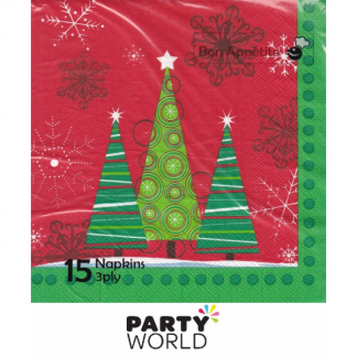 Christmas Tree Luncheon Napkins (15)