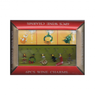 Christmas Wine Glass Charms (6)
