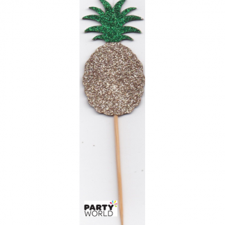 Gold Glitter Pineapple Cake Pick