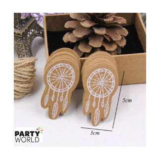 Dreamcatchers Kraft Tags with Ribbon (50pk)