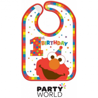 Elmo Turns One Birthday Bib