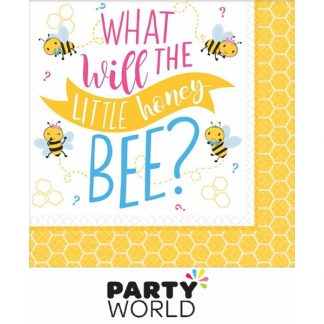 What Will It Bee? Paper Beverage Napkins (16)