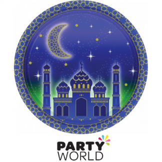 Moon & Stars Round Paper Plates (8)