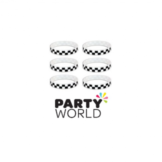 Checkered Party Rubber Wristbands (8)