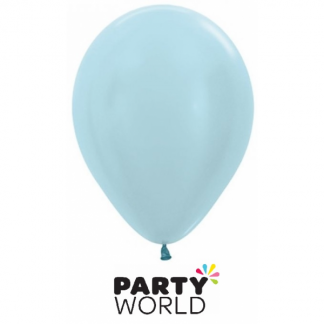 Sempertex Satin Pearl Blue Latex Balloons (100)