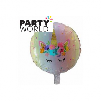 Unicorn Round Foil Balloon