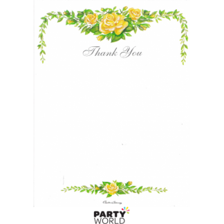 Floral Thank You Card Pad (20 Sheets)