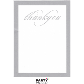 Silver Thank You Card Pad (25 Sheets)