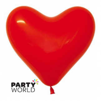 Classic Heart Shape Red Latex Balloons (12)
