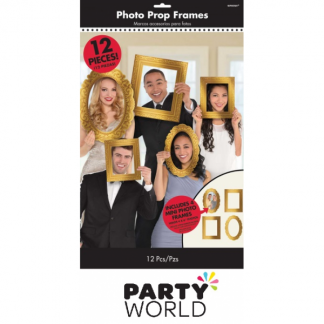 Photo Props - Gold Cardboard Frames (12)