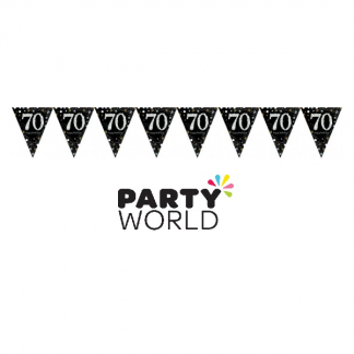 70th Birthday Sparkling Celebration Bunting