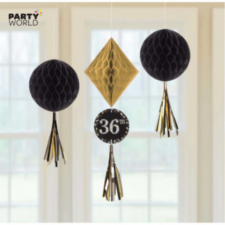 Sparkling Celebration Customizable Honeycomb Decorations (3)