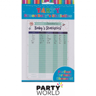 Baby Shower Guess Statistics Party Game