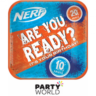 Nerf Party Square 7in Paper Plates (8)
