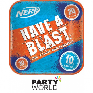 Nerf Party Square 9in Paper Plates (8)