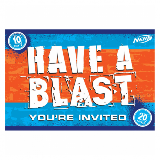 Nerf Party Postcard Invitations (8)