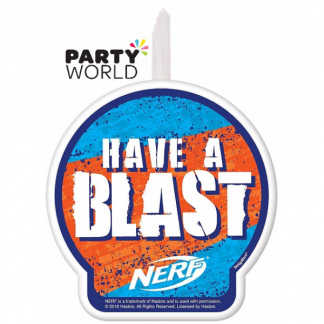 Nerf Party Birthday Cake Candle