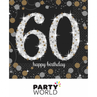 Sparkling Celebration 60th Beverage Napkins (16)