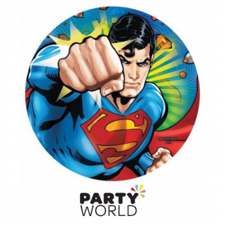 Superman 9in Round Paper Plates (8)