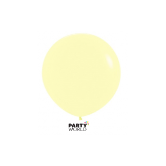 Giant 90cm (36in) Pastel Matte Yellow Round Paddle Balloon