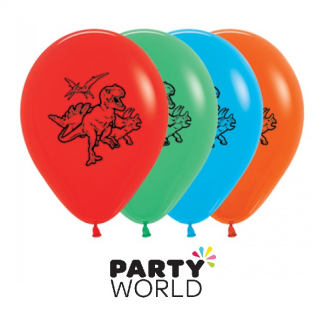 Dinosaur Party Latex Balloons (4)