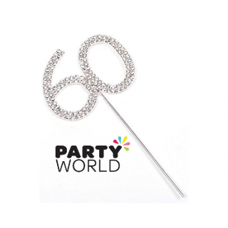 60th Diamante Cake Topper