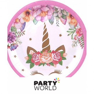 Unicorn Paper Plates 7 in (8)