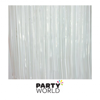 White Fringe Foil Curtain