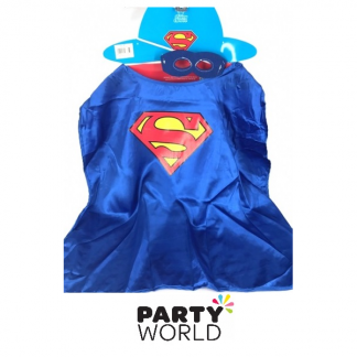 Superman Cape With Eye Mask