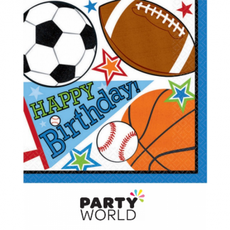 Sports Party Paper Luncheon Napkins (16)