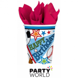 Sports Party 9oz Paper Cups (8)