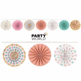 Pastel Mini Paper Fan Garland (3.65m)