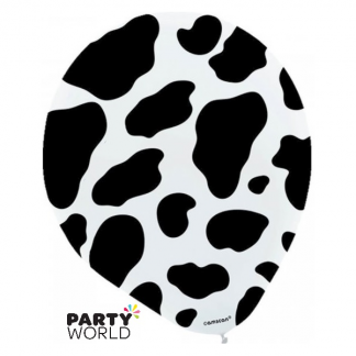Cow Print 30cm Latex Balloons (6)