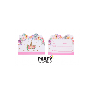Unicorn Party Invitation Cards (10)