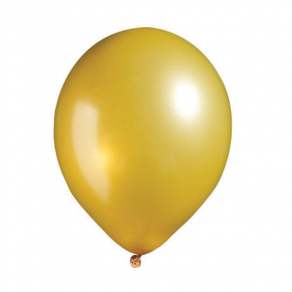 Budget 30cm Pearl Gold Latex Balloons (20)