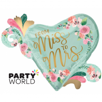 Foil Balloon Supershape - Miss To Mrs