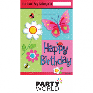 Garden Girl Birthday Loot Bags (8)