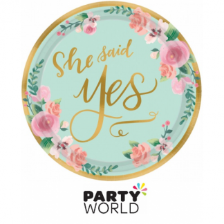Mint To Be She Said Yes Paper Plates 7in (8)