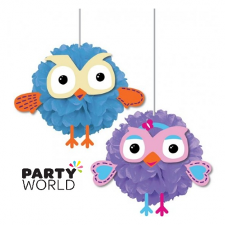 Giggle And Hoot Fluffy Decorations (2)