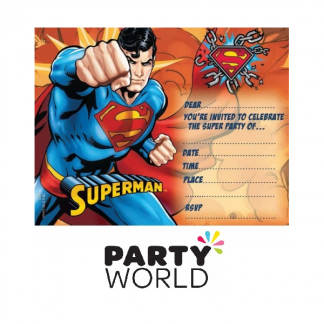 Superman Party Invitations (8)