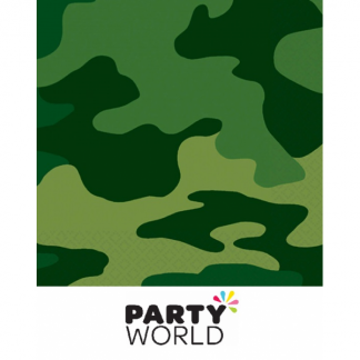 Camo / Military Party Beverage Napkins (16)